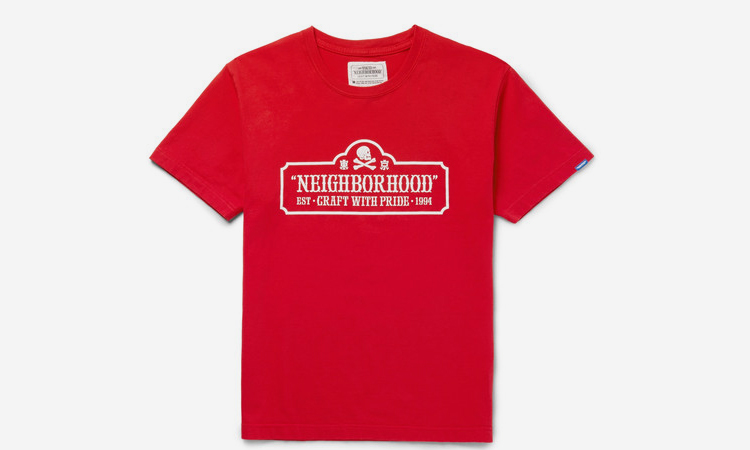 Neighborhood-t-shirt-rouge-80-euros-folkr